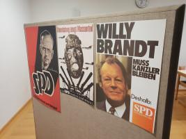 Ausstellung alter Wahlplakate
