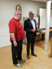 Jürgen Rauskolb wird für 25 Jahre SPD geehrt